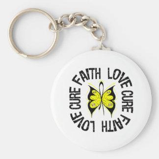Bladder Cancer Faith Love Cure Keychain