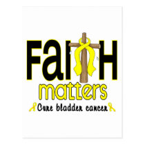 Bladder Cancer Faith Matters Cross 1 Postcard
