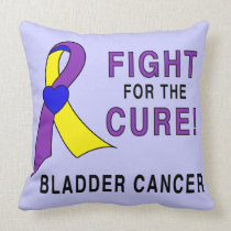 Bladder Cancer: Fight for the Cure! Throw Pillow