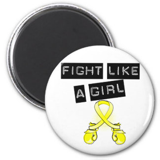Bladder Cancer Fight Like A Girl 2 Inch Round Magnet