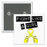 Bladder Cancer Fight Like A Girl Button