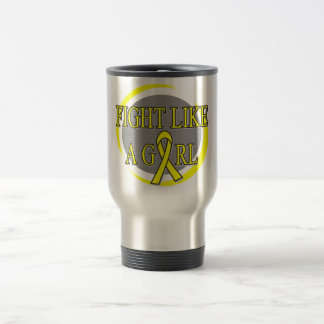 Bladder Cancer Fight Like A Girl Circular Coffee Mug