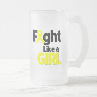 Bladder Cancer Fight Like a Girl Coffee Mugs