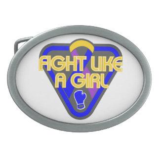 Bladder Cancer Fight Like A Girl Glove Belt Buckle