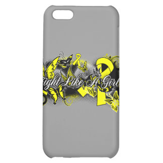 Bladder Cancer Fight Like A Girl Grunge Butterfly iPhone 5C Cases