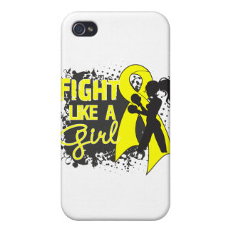 Bladder Cancer Fight Like A Girl Grunge Cases For iPhone 4