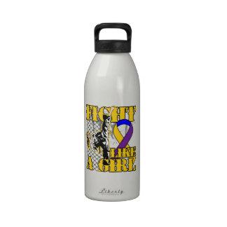 Bladder Cancer Fight Like A Girl Kick Drinking Bottle