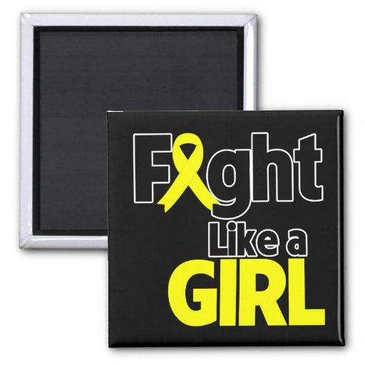 Bladder Cancer Fight Like a Girl Refrigerator Magnet