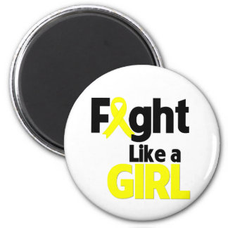 Bladder Cancer Fight Like a Girl Magnets