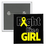 Bladder Cancer Fight Like a Girl Pinback Buttons