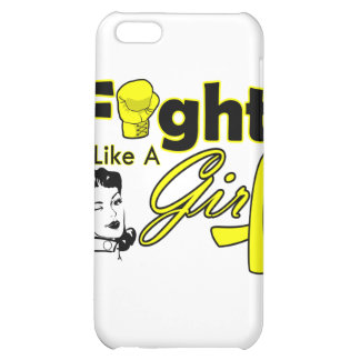 Bladder Cancer Fight Like A Girl - Retro Girl iPhone 5C Covers