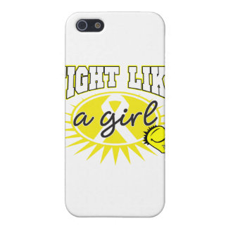 Bladder Cancer Fight Like A Girl Sporty Callout iPhone 5 Cover
