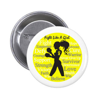 Bladder Cancer Fight Like A Girl Warrior Collage Pins