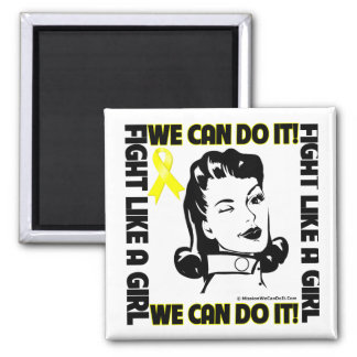Bladder Cancer - Fight Like A Girl - We Can Do It Fridge Magnets