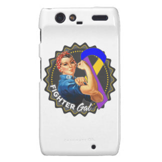 Bladder Cancer Fighter Gal Motorola Droid RAZR Covers