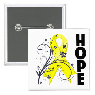 Bladder Cancer Floral Hope Ribbon Pins