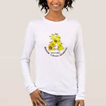 Bladder Cancer FLOWER RIBBON 1 Long Sleeve T-Shirt