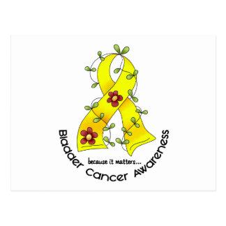 Bladder Cancer FLOWER RIBBON 1 Postcard