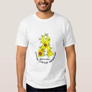 Bladder Cancer FLOWER RIBBON 1 T-Shirt