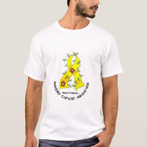 Bladder Cancer FLOWER RIBBON 1 T-Shirt