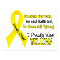 Bladder Cancer For Every…..I Proudly Wear Yellow 1 Postcard