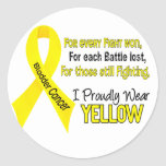 Bladder Cancer For Every…..I Proudly Wear Yellow 1 Round Sticker