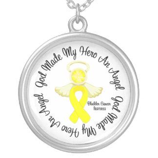 Bladder Cancer God Made My Hero An Angel Round Pendant Necklace