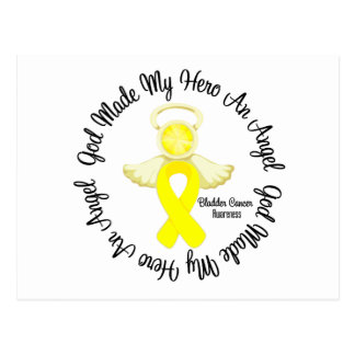 Bladder Cancer God Made My Hero An Angel Postcard