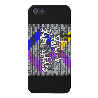 Bladder Cancer Graffiti Wall Fight Like A Girl v2 Case For iPhone 5