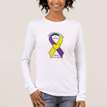 Bladder Cancer Heart Ribbon Name Customizable Long Sleeve T-Shirt