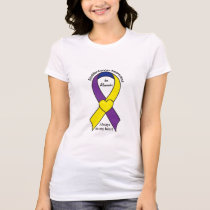 Bladder Cancer Heart Ribbon Name Customizable T-Shirt