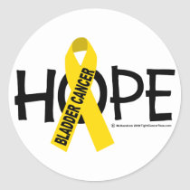 Bladder Cancer HOPE 2 Classic Round Sticker