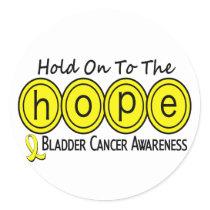 Bladder Cancer HOPE 6 Classic Round Sticker