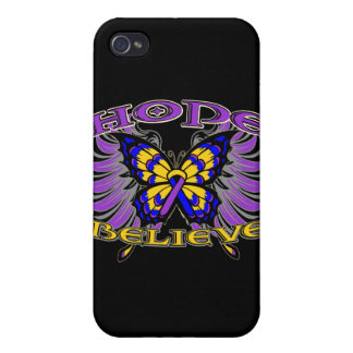 Bladder Cancer Hope Believe Butterfly iPhone 4 Cover