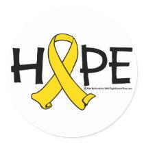 Bladder Cancer HOPE Classic Round Sticker