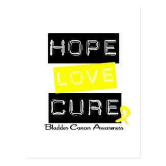 Bladder Cancer Hope Love Cure Postcard