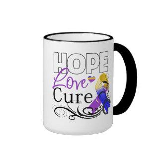 Bladder Cancer Hope Love Cure Ringer Mug