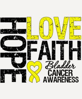 Bladder Cancer Hope Love Faith T Shirts