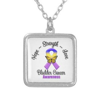 Bladder Cancer Hope Strength Love Necklace