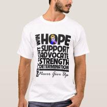 Bladder Cancer Hope Support Advocate T-Shirt