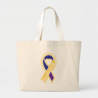 bladder cancer I can do all things through Canvas Bag