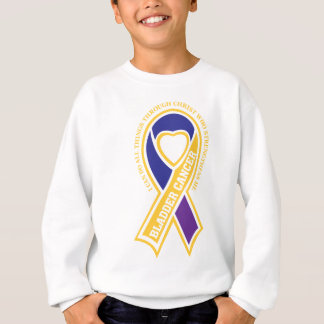 bladder cancer I can do all things through Sweatshirt