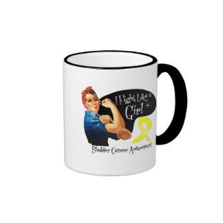 Bladder Cancer I Fight Like a Girl Rosie Riveter Mugs