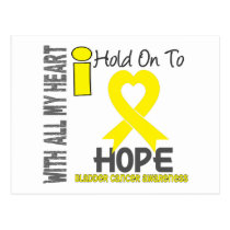 Bladder Cancer I Hold On To Hope Postcard