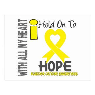 Bladder Cancer I Hold On To Hope Postcard
