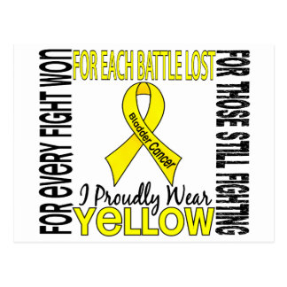 Bladder Cancer I Proudly Wear Yellow 2 Postcard