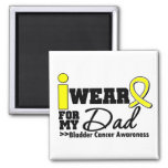 Bladder Cancer I Wear Yellow Ribbon For My Dad Magnet
