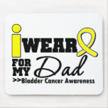 Bladder Cancer I Wear Yellow Ribbon For My Dad Mouse Mats