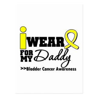 Bladder Cancer I Wear Yellow Ribbon For My Daddy Postcard