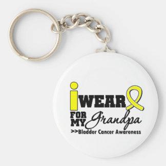 Bladder Cancer I Wear Yellow Ribbon For My Grandpa Keychain